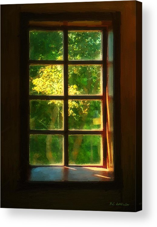 Autumn Acrylic Print featuring the painting View From The Orwell Corner Church by RC DeWinter