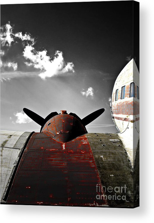 Vintage Airplane Acrylic Print featuring the photograph Vintage Dc-3 Aircraft by Steven Digman