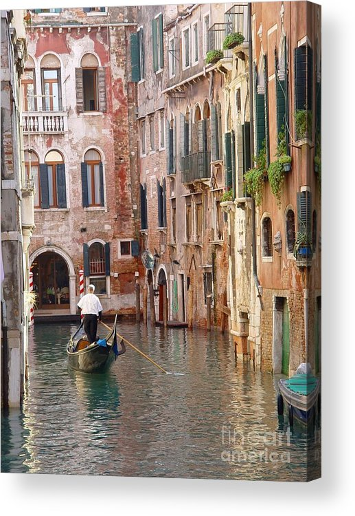Acrylic Print featuring the photograph Visions Of Venice 2. by Nancy Bradley