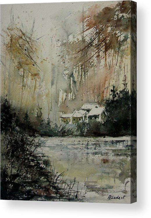 Landscape Acrylic Print featuring the painting Watercolor 070608 by Pol Ledent