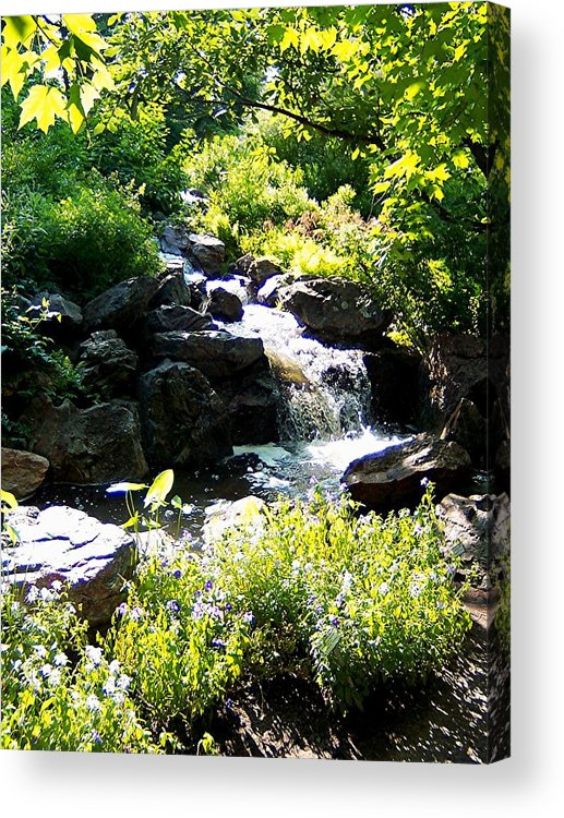 Waterfall Acrylic Print featuring the photograph Waterfall by Caroline Urbania Naeem