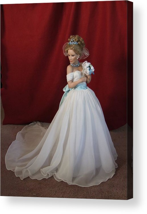 Fantasy Acrylic Print featuring the photograph Wedding Gown by Chuck Shafer
