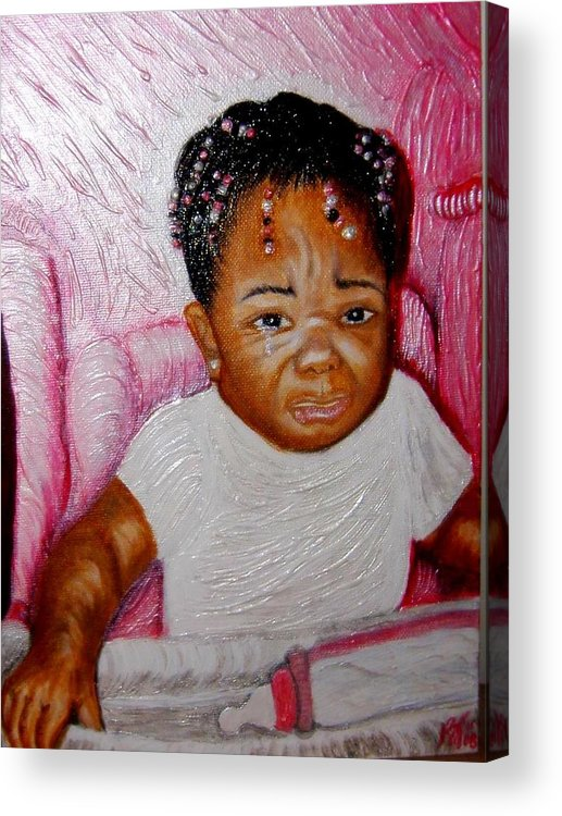 Acrylic Acrylic Print featuring the painting What A Blessing by Keenya Woods