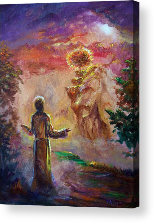 Holy Spirit Acrylic Print featuring the painting when the Lord called Moses by Tommy Winn