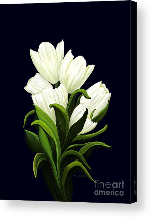 Mixed Media Acrylic Print featuring the painting White Tulips by Patricia Griffin Brett