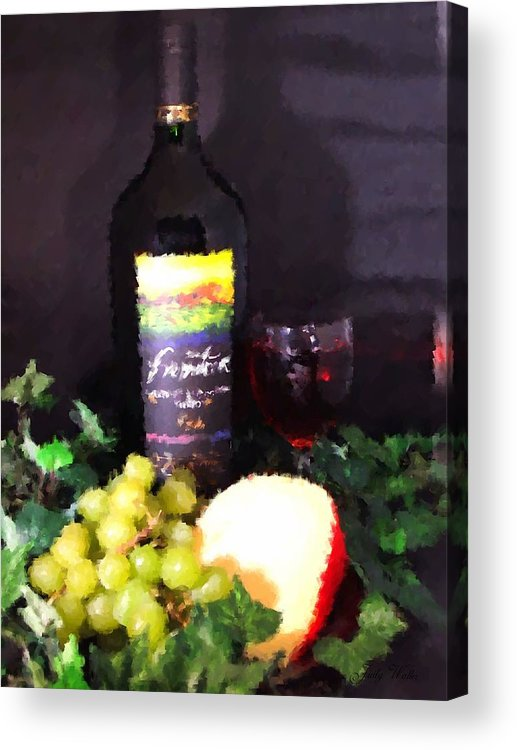 Wine Acrylic Print featuring the photograph Wine And Cheese by Judy Waller