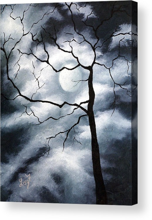 Winter Acrylic Print featuring the painting Winter Evening by Elizabeth Lisy Figueroa