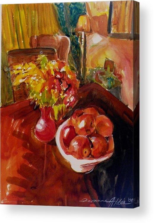 Interior Acrylic Print featuring the painting Women's Day Bouquet by Doranne Alden