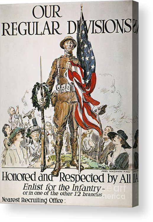 1918 Acrylic Print featuring the photograph World War I: U.s. Army by Granger