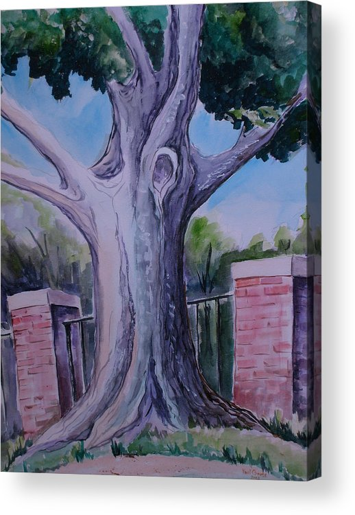 Landscape Acrylic Print featuring the painting Wortham Oak by Paul Choate