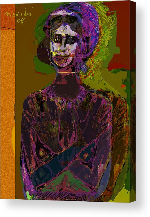 Potrait Acrylic Print featuring the painting Wounded Sprit by Noredin