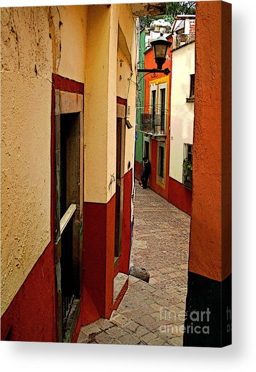 Darian Day Acrylic Print featuring the photograph Young Man In The Alley by Mexicolors Art Photography