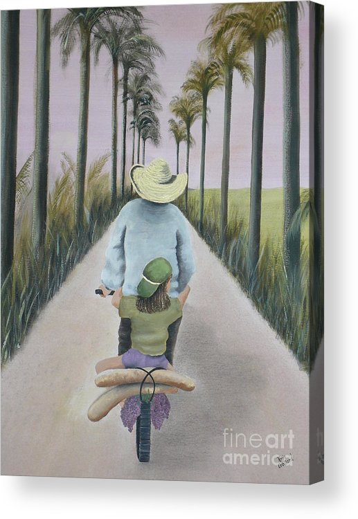 Tropical Acrylic Print featuring the painting You're The Best by Kris Crollard
