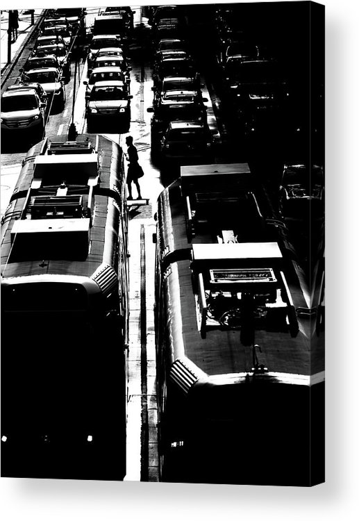 Tram Acrylic Print featuring the photograph Rush Hour by Jian Wang