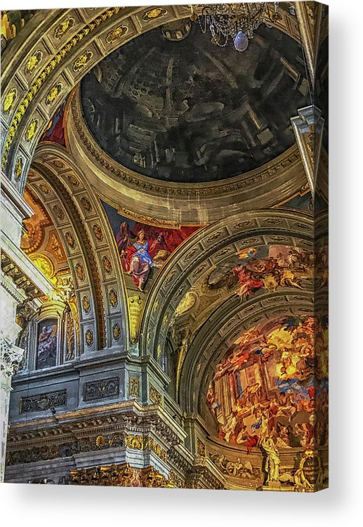 Baroque Acrylic Print featuring the photograph Dome by Joseph Yarbrough
