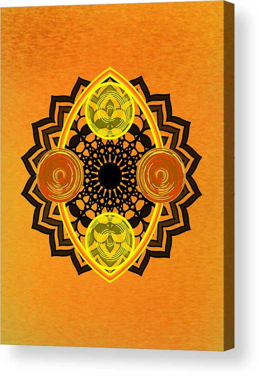 Sacred Geometry Acrylic Print featuring the digital art Untitled by Giuseppe Barilla