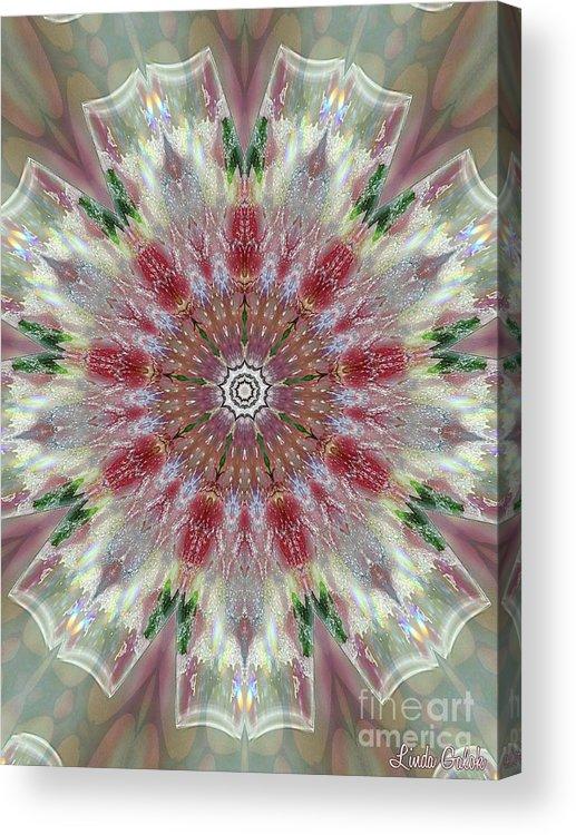 Valentine Acrylic Print featuring the digital art Kaleidoscope Valentine by Linda Galok