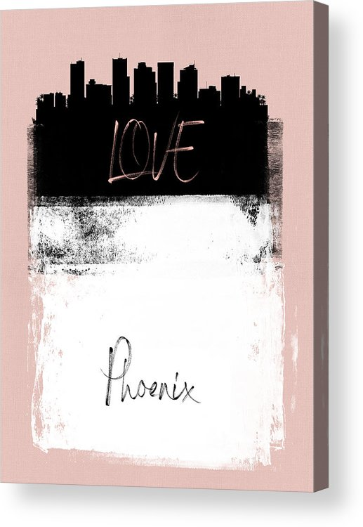 Phoenix Acrylic Print featuring the mixed media Love Phoenix by Naxart Studio