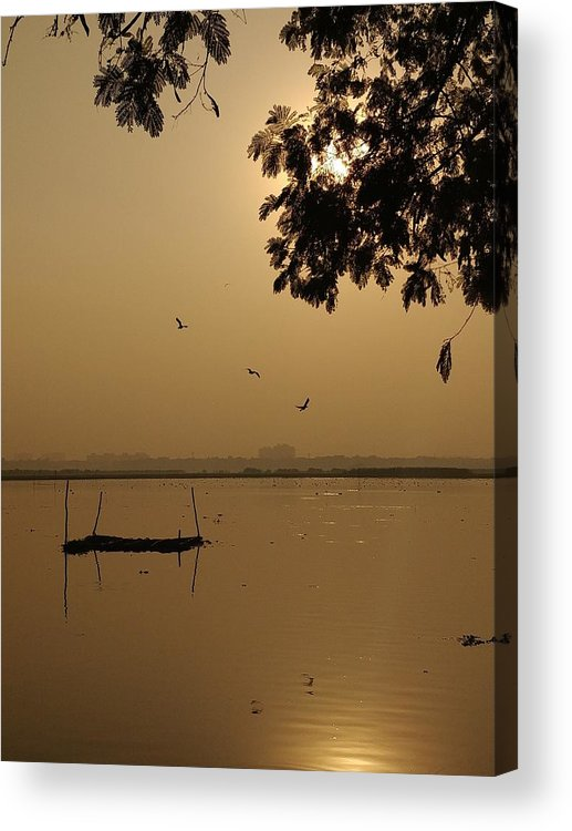 Sunset Acrylic Print featuring the photograph Sunset by Priya Hazra