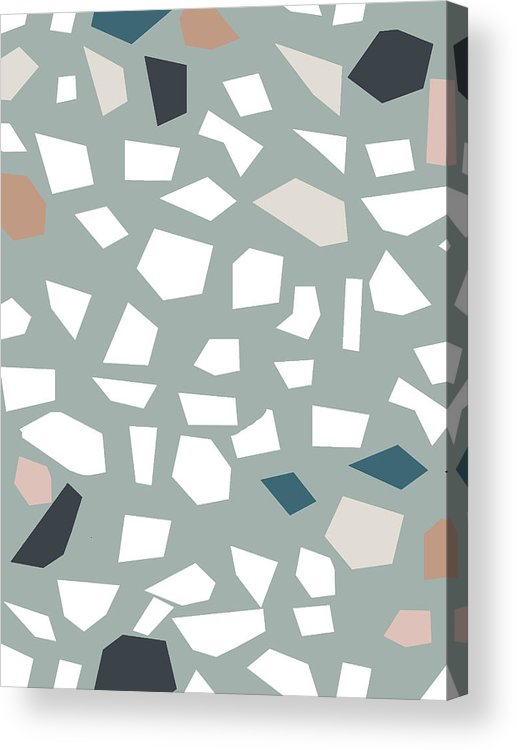 Terrazzo Acrylic Print featuring the digital art Terrazzo 1- Art By Linda Woods by Linda Woods