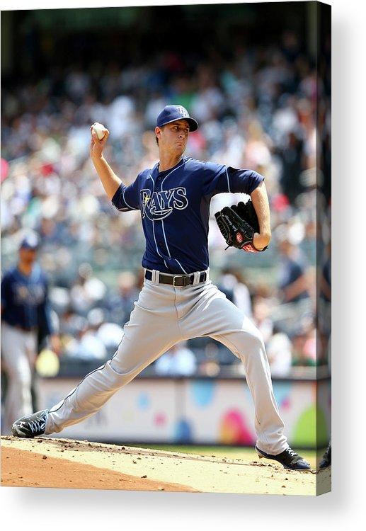 American League Baseball Acrylic Print featuring the photograph Jake Odorizzi by Elsa