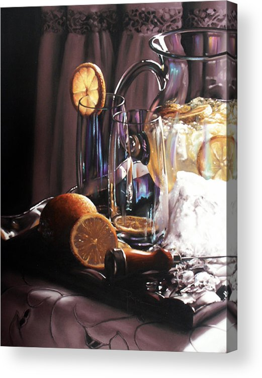 Lemons Acrylic Print featuring the painting Sunkist by Dianna Ponting