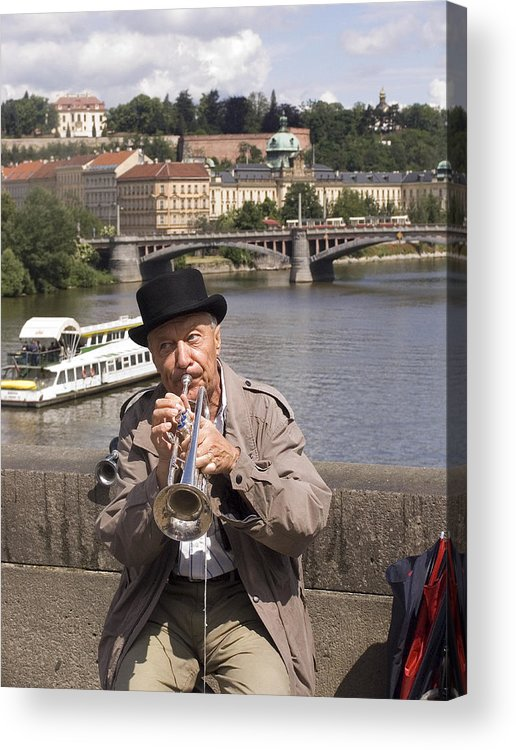 Prague Acrylic Print featuring the photograph Rollin Or The River by Charles Ridgway