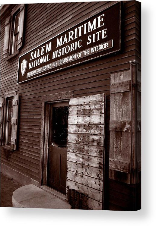 Salem Acrylic Print featuring the photograph Salem Maritime by Heather Weikel