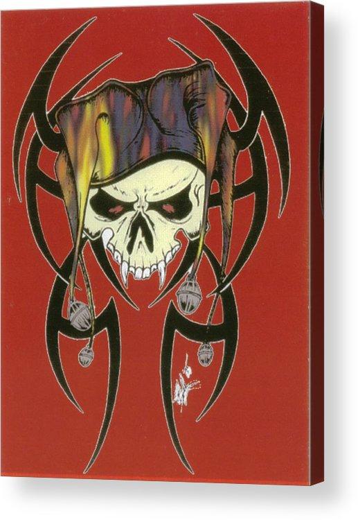 Skull Acrylic Print featuring the print Tribal Skull by Kimberly Morgan