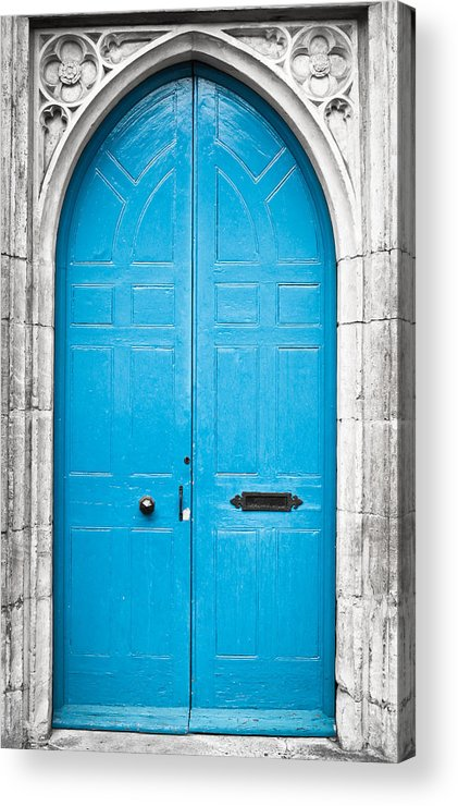 Arch Acrylic Print featuring the photograph Blue Door by Tom Gowanlock