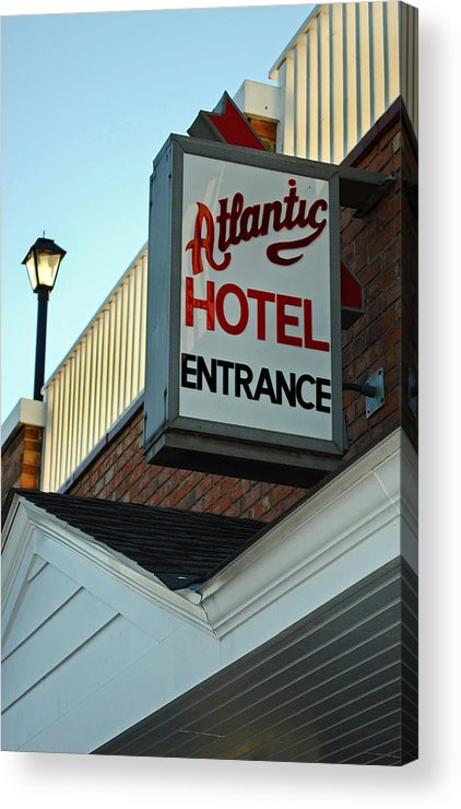 Fair Acrylic Print featuring the photograph Atlantic Hotel by Skip Willits