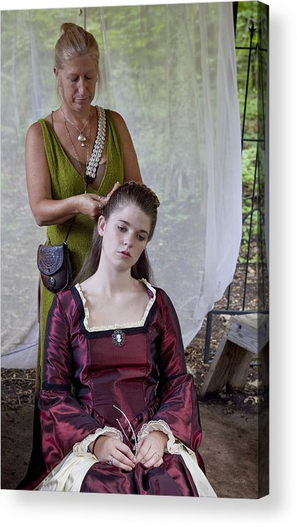 Medeival Acrylic Print featuring the photograph Braids by Charles Warren