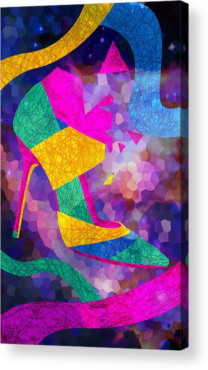 High Heels Acrylic Print featuring the digital art High Heels On Ropes by Kenal Louis