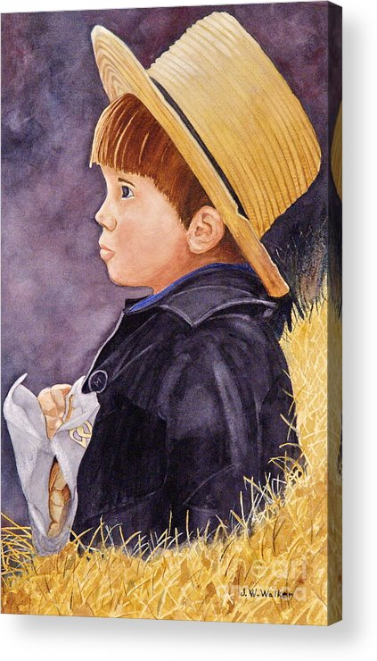 Innocence Acrylic Print featuring the painting Innocence by John W Walker