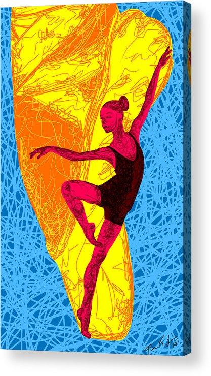 La Ballerina Du Juilliard Acrylic Print featuring the painting La Ballerina Du Juilliard by Kenal Louis