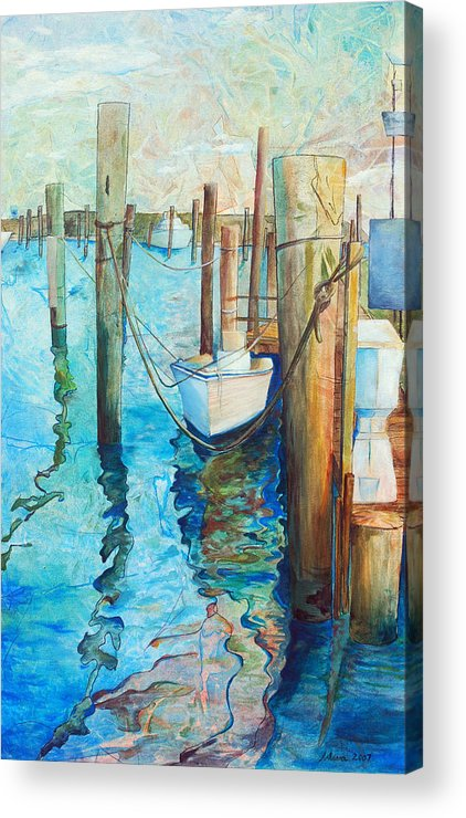 North Carolina Acrylic Print featuring the painting Oregon Inlet by Arlissa Vaughn