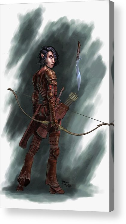 Archer Acrylic Print featuring the digital art Rogue by Bryan Syme