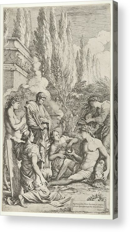 Rosa Acrylic Print featuring the drawing The Genius Of Salvator Rosa by Salvator Rosa