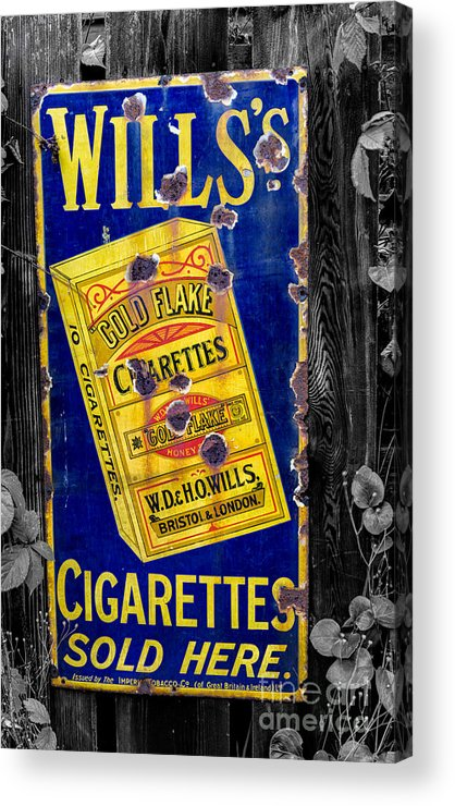 Advertising Acrylic Print featuring the photograph Victorian Sign by Adrian Evans