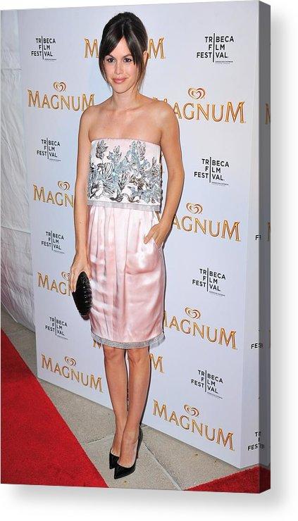Rachel Bilson Acrylic Print featuring the photograph Rachel Bilson Wearing A Chanel Couture by Everett