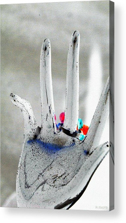 Hand Acrylic Print featuring the photograph The Black Hand In Negative by Rob Hans