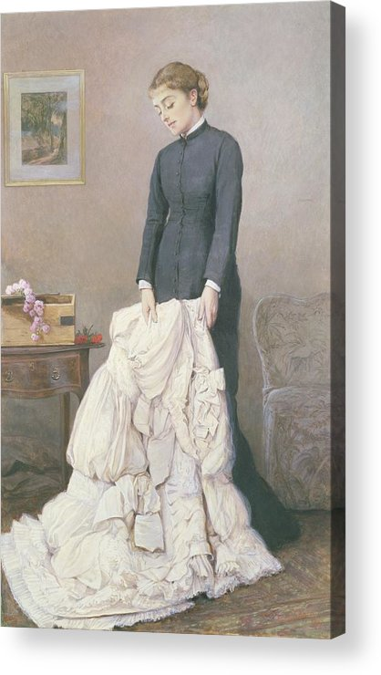 A Young Widow Acrylic Print featuring the painting A Young Widow by Edward Killingworth Johnson