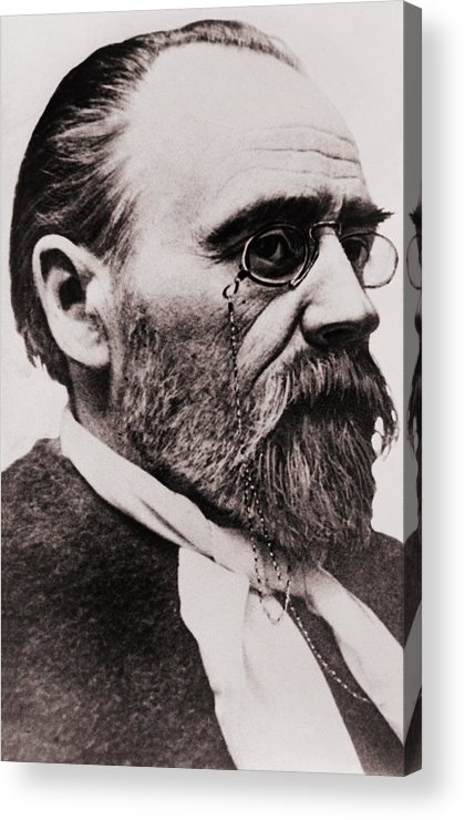 Historical Acrylic Print featuring the photograph Emile Zola 1840-1902, French Novelist by Everett