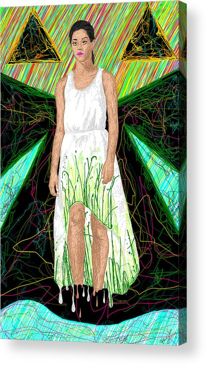 Fashion Art Acrylic Print featuring the painting Fashion Abstraction De Jeff Hanson by Kenal Louis