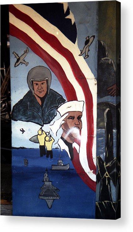 Louisiana Acrylic Print featuring the photograph Military Mural by Doug Duffey