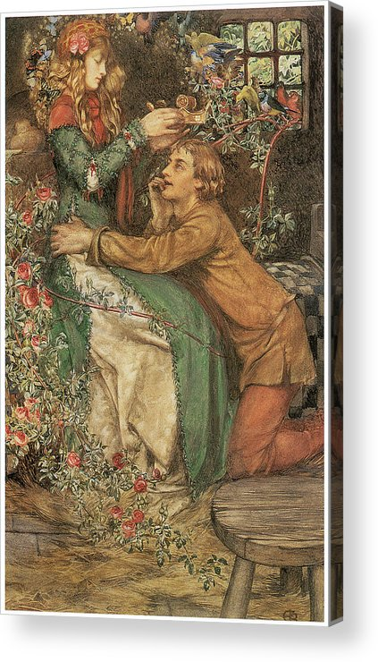 Eleanor Fortescue-brickdale Acrylic Print featuring the painting Natural Magic by Eleanor Fortescue-Brickdale