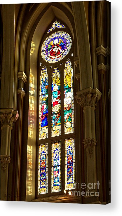 St Michael's Basilica Acrylic Print featuring the photograph Stained Glass Of St Michaels Basilica by Patricia L Davidson