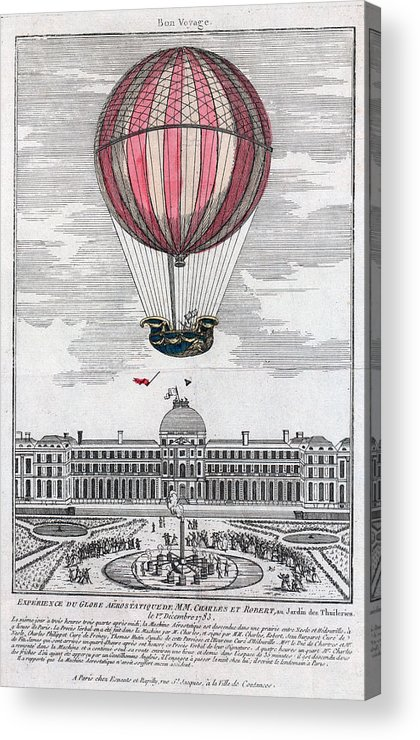 1783 Acrylic Print featuring the photograph Hydrogen Balloon, 1783 by Granger