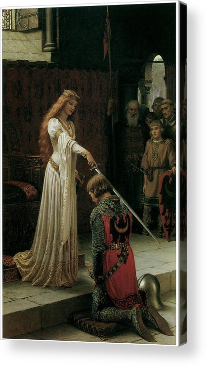 Edmund Blair Leighton Acrylic Print featuring the painting The Accolade by Edmund Blair Leighton