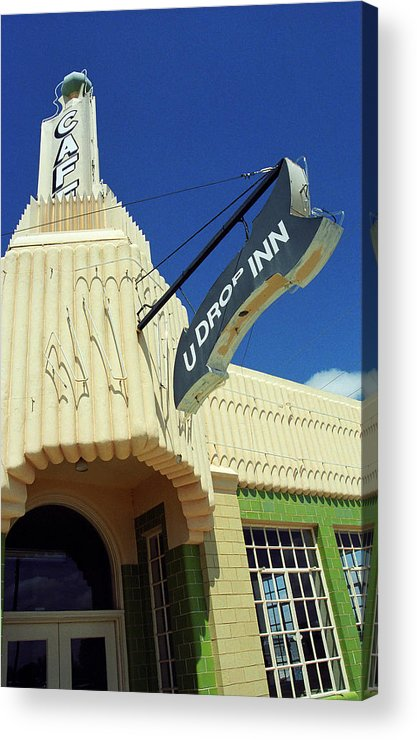 66 Acrylic Print featuring the photograph Route 66 - Conoco Tower Station by Frank Romeo
